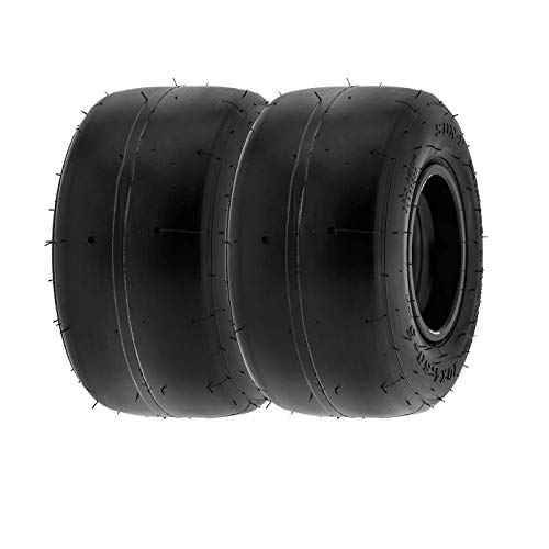 SunF 10x4.5.00-5 10x4.5.00x5 Neumáticos Go Kart, K001, neumáticos Kart Racer Slick, banda de rodadura lisa de 4 capas, sin cámara, juego de 2