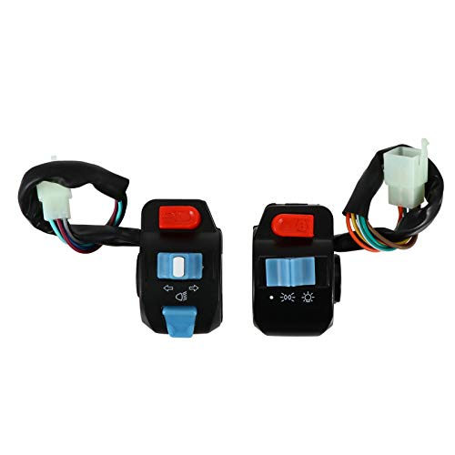 FAVOMOTO Motocicleta Manillar Faro Interruptor Antiniebla Luz LED On Off Interruptor 2 Piezas