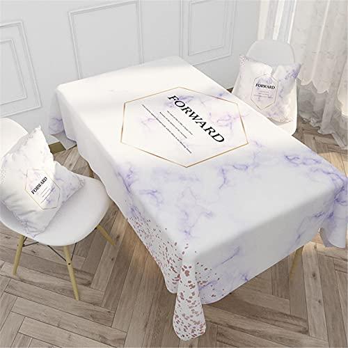 SUNFDD Tovaglia da Esterno in Puro Cotone Alfabeto Nordico All'Aperto Casa Cucina Tavolo da tè Impermeabile Tavolo da Pranzo Tavolo da Pranzo All'Aperto Tavolo da Picnic Tovaglia 140x220cm(WxH) I