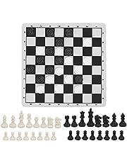 Draagbare reisspellen Intelligent speelgoed, hoogwaardig kunststof gevouwen en gekruld Handige 2-in-1 schaakdamset Sterk en duurzaam voor kinderen voor kinderen