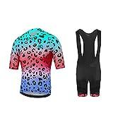 Uglyfrog Color de la Bandera con Camuflaje Mens Ciclismo Jersey Team Ciclismo Ropa Jersey Bib Shorts Kit Camisa de Secado rápido Ropa al Aire Libre de la Bicicleta