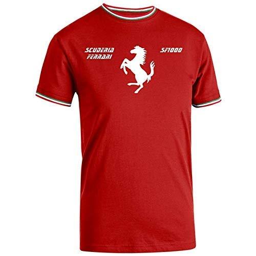 Maglietta T-Shirt Tricolore celebrativa ispirata Ferrari 2020 F1000