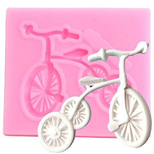 YCEOT Forme de vélo Moule en Silicone pour Confiserie Chocolat Fondant De Décoration De Gâteau Outils Cuisine Cuisson Polymère Moules en Argile