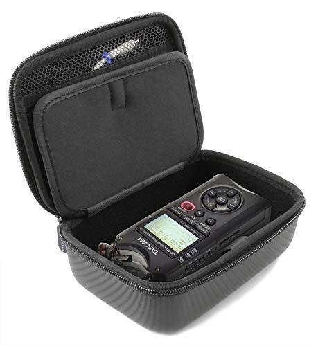 Casematix Tragbare Recorder Tragetasche für Taccam DR-40X Studio Recorder und DR40 Kleines Zubehör