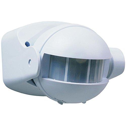Smartwares Bewegungsmelder 180° 12 m Innen und Aussen IP44 Sensor Weiß ES34