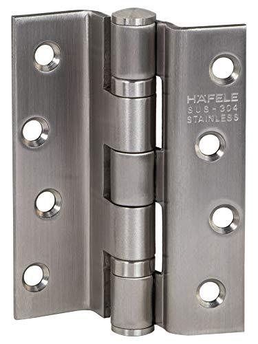 Gedotec Aufschraubscharnier Edelstahl Türband für gefälzte Innentüren | Schwerlast-Türscharnier kugelgelagert | Winkel-Scharnier mit Tragkraft bis 80 kg | 1 Stück - Aufschraubband Zimmertür