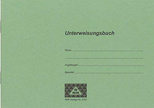 RNK 3122 - Unterweisungsbuch für die betriebliche Unfallverhütung, 48 Seiten, DIN A5 quer, 1 Stück