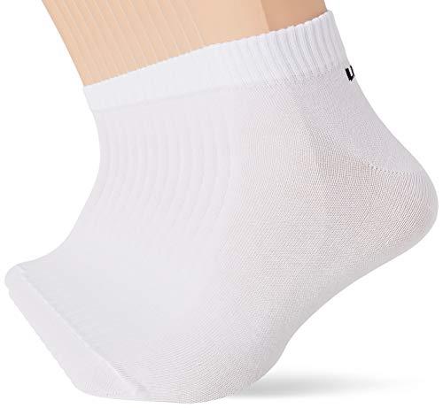 Umbro Calcetines de deporte para Hombre, Blanco, 43/46 (pack de 12)