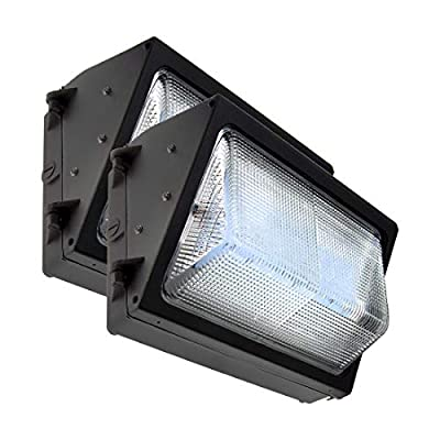 Green LED Zone LED Wall Pack Outdoor Light Fixture Available with and Without Photocell Sensor for Auto on/Off