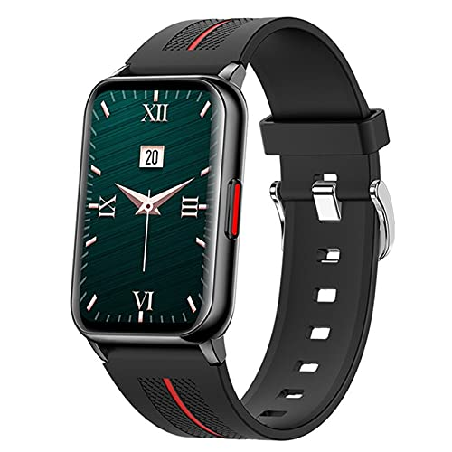 H76 - Reloj inteligente de 1,57 pulgadas, pantalla Hyperboloid con presión IP68, de larga duración, para hombres y mujeres, reloj inteligente Heart Rate Fitness Tracker (negro)