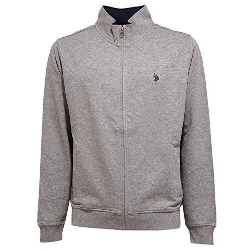 4659K Felpa Uomo U.S. POLO ASSN. Grey Full Zip Sweatshirt Man [L]