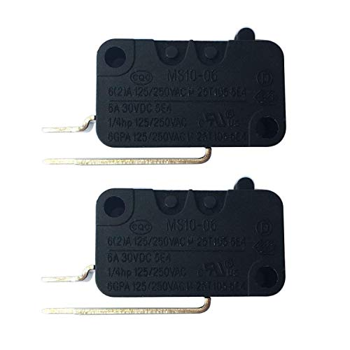 W10195039 Dishwasher Float Switch for Whirlpool KitchenAid Kenmore Maytag Dishwasher WPW10195039 MS10-06 PS11750031 Pack of 2