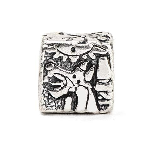 Eguzkilore Charm Plata de Ley 925mm Abalorio El Guernica Picasso, Compatible con...