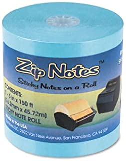 ZipNotes BLUE Refill Roll. Contains 600 3'' x 3'' Sticky Notes (Sold Per Roll)