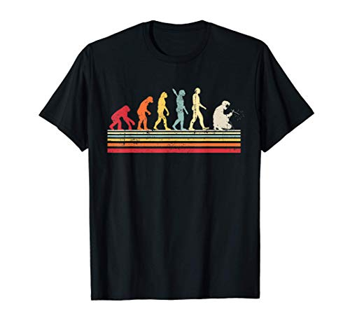 Divertido soldador Evolution of Man Vintage Retro Women Gift Camiseta