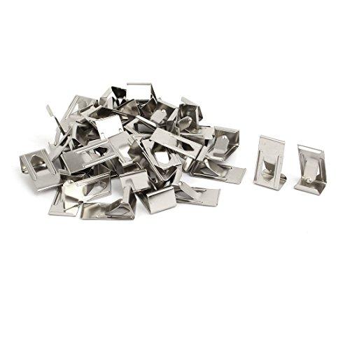 Aexit 26mm x 14mm Bild Fotorahmen Metallfeder Drehen Clip Aufhänger Siver Tone 40pcs (00eb76b758e8c13fff9e1f255d1c5db1)