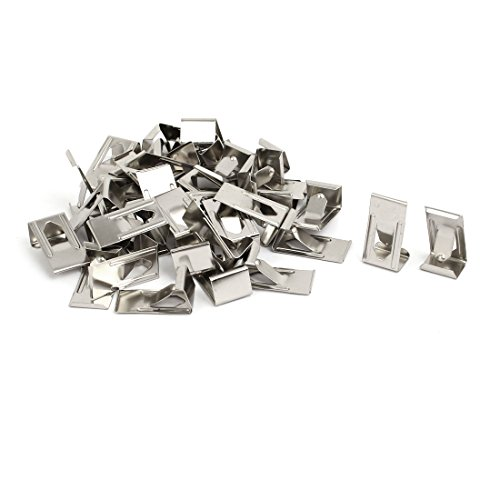 sourcingmap 26mmx14mm Picture Photo Frame Metal Spring Turn Clip Hanger Siver Tone 40pcs