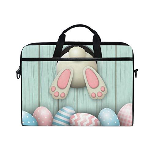 CPYang Laptop Bag Easter Bunny Eggs Computer Laptop Case Notebook Laptop Shoulder Messenger Bag Sleeve for Boys Girls Women Men