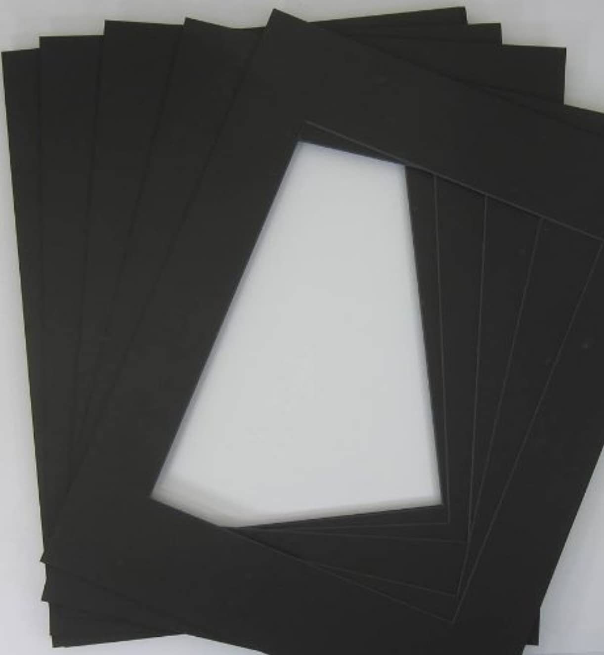 10 of 20x24 Black Pre-cut Acid-free BLACKCORE mat for 16x20 + back