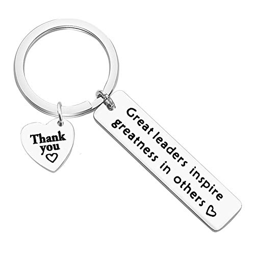 Boss Gift Keyring Keychain Great Leaders Inspire Greatness in Others...
