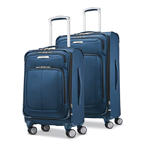 Samsonite Solyte DLX Softside Expandable Luggage with Spinner Wheels Mediterranean Blue 2Piece Set 20/25