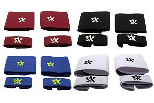 Sportswear Kingdom Stutzenhalter Set Fußball Schienbeinschonerhalter (Weiß)