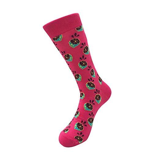 COZOCO Unisex Casual Strumpf Baumwolle Socken süße Obst Print Socken Mode Herren Frauen Socken(E)