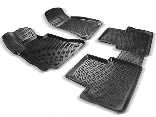Elmasline Design 3D Gummimatten Set für OPEL Corsa E Baujahr 2014-2019 | Extra hoher 5cm Rand