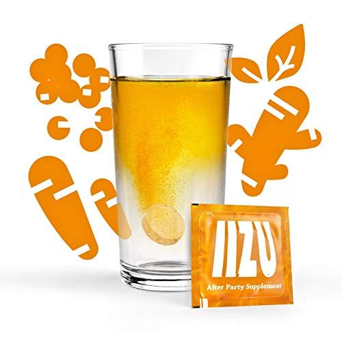 IIZU® After Party Supplement – alles was der Körper nach einer langen Nacht braucht – 10 Brausetabletten mit natürlichen Extrakten, basischen Salzen und Aminosäuren