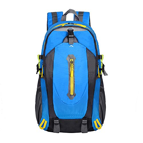 Ang-xj Sports rucksack mountaineering bag ultralight travel backpack fitness student bag backpack outdoor riding men and women can use nylon outdoor travel bag shoulder backpack (Color : Black)