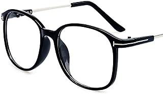 Simple Style Oversized Black Frame Eyeglasses Retro Flat EyeWear for Unisex