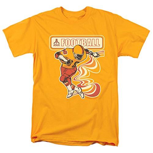 Popfunk Atari Football Video Game T Shirt & Stickers, Gold for Men