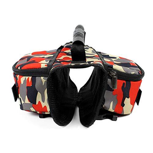 VICTORIE Paquete de Perro arnés Bolsa de sillín de para el Entrenamiento de Viaje al Aire Libre Acampar Senderismo L