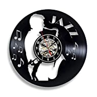 Handmade Solutions Saxophone Musical Instrument Wall Clock - Home Interior Living Room Office Bedroom Study Recording Studio Decor - Best Gift for Musician Him Her Mother Father Boyfriend Girlfriend