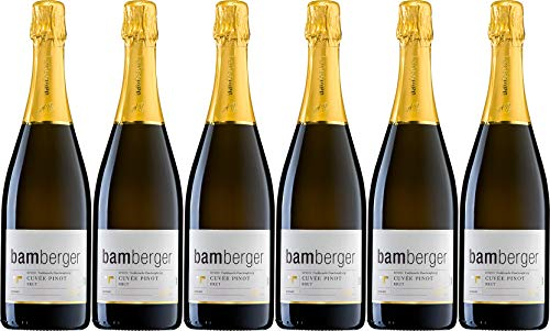 Wein- und Sektgut Bamberger Sekt Cuvée Pinot 2016 Brut (herb) (6 x 0.75 l)