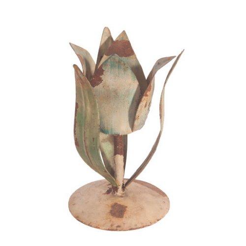 Ian Snow Bougeoir en Forme de Tulipe Multicolore
