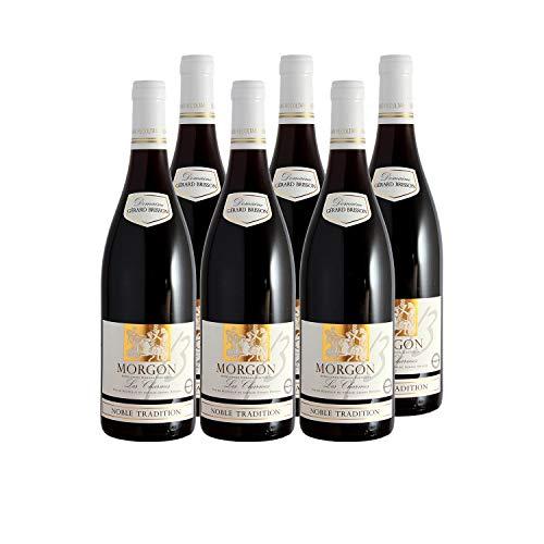 Morgon Les Charmes Noble Tradition Rotwein 2009 - Domaine Gérard Brisson - g.U. - Beaujolais Frankreich - Rebsorte Gamay - 6x75cl