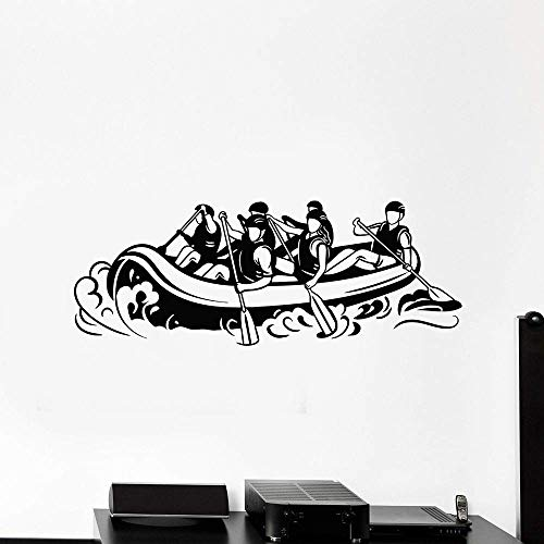 Adesivi Murali In Vinile Alla Deriva Estrema Soggiorno In Lega Kayak Kayak Sport Adesivi Murali Centro Fitness Decorazione Dell'Aula 30X77Cm