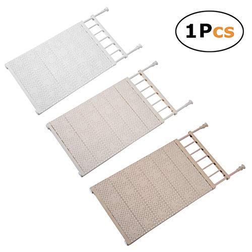 In kds Scalable Layered Separator Updated Version Adjustable Storage Rack Shelf for Wardrobe Refrigerator Cupboard Random Colour (53-90) x42cm