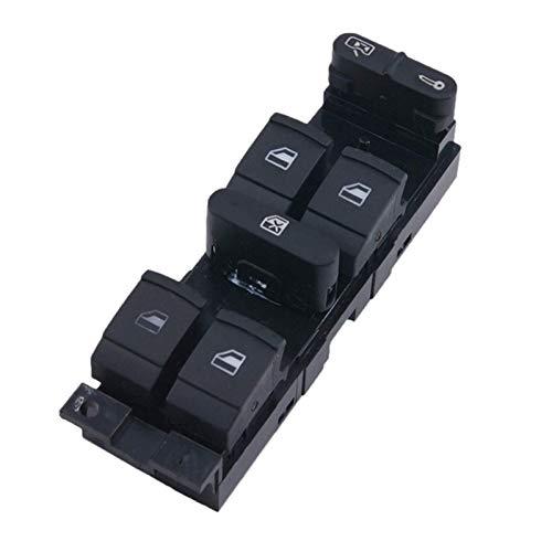 Interruptor de elevalunas eléctrico Master Control Power Lifter para Bora B5 Seat Leon Toledo 2000-2009. (Color : Black)