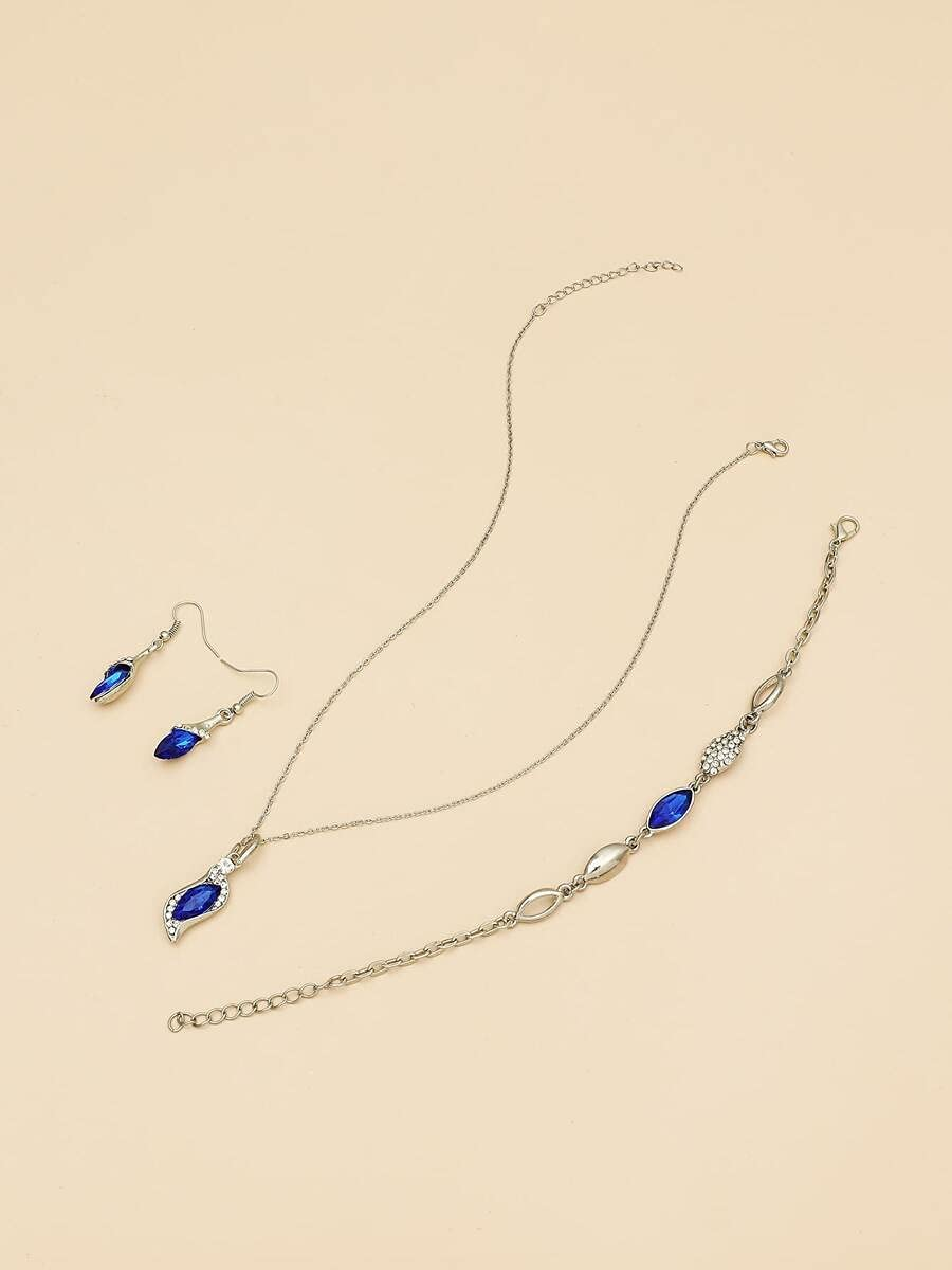 ZHAWE Women's Jewelry Set Series 4pcs Decor Rhinestone S Dealing full price Indefinitely reduction