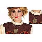 Atosa-56358 Atosa-56358-accesorio Disfraz Steampunk Collar Mujer