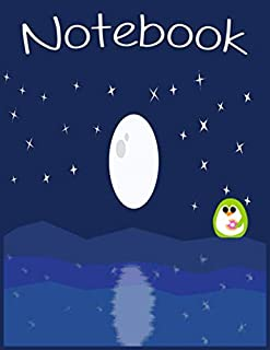 Night Sky Full Moon Notebook: Pretty Night Sky Diary(Composition Book, Journal) (8.5 x 11 Large)
