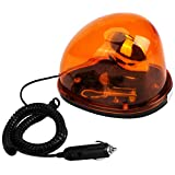Voyant d'alarme - 1PC 12VDC rotatif jaune balise de voiture avertisseur lumineux signal lampe témoin magnétique