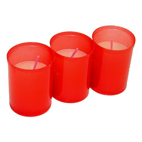 VELAS LUMAR Pack de 3 velones votivos Rojos