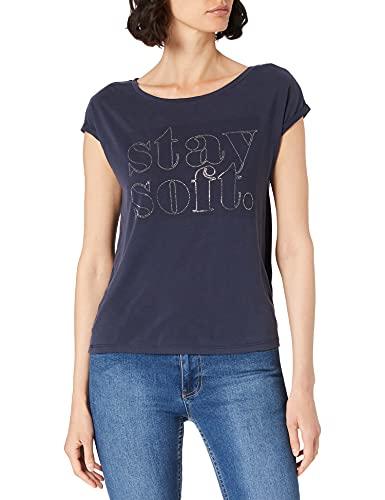 Street One Damen 316259 T-Shirt, Mellow deep Blue, 42