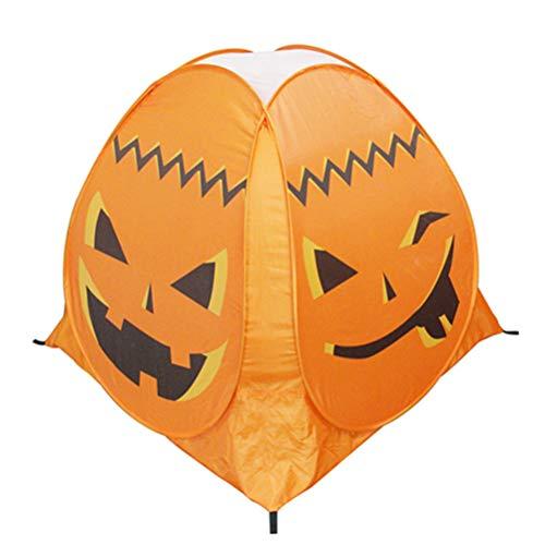 Best Deals! Amosfun Halloween Pumpkin Tent Kids Game Tent Halloween Ghost Festival Decoration for Ch...