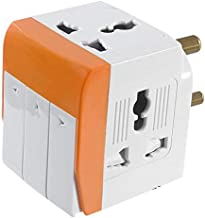 2Q2Q (5A-250V) 3 Socket 3 Switches with Individual Switch and Indicator Extension Spike Buster Fuse Protected, White