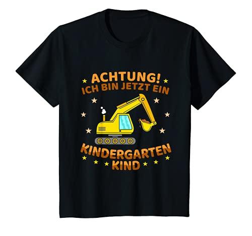 Kinder Ich bin jetzt ein Kindergartenkind Bagger Kindergarten Start T-Shirt