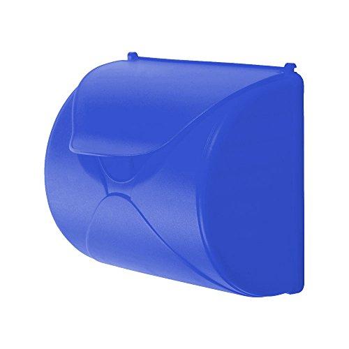 WICKEY Briefkasten für Kinder Spiel-Briefkasten Zubehör Post Briefe, 250x226x136mm, blau